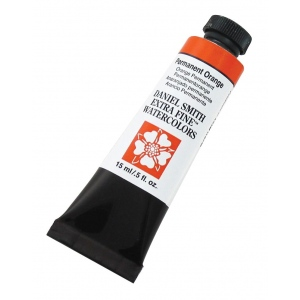 Daniel Smith Extra Fine™  Watercolor 15ml Permanent Orange: Orange, Tube, 15 ml, Watercolor, (model 284600071), price per tube