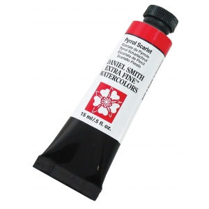 Daniel Smith Extra Fine™ Watercolor 15ml Pyrrol Scarlet: Red/Pink, Tube, 15 ml, Watercolor, (model 284600085), price per tube