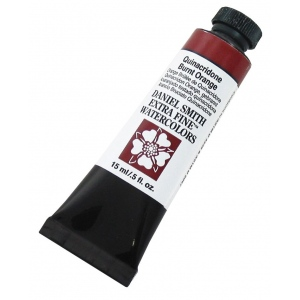 Daniel Smith Extra Fine™ Watercolor 15ml Quinacridone Burnt Orange: Orange, Tube, 15 ml, Watercolor, (model 284600086), price per tube