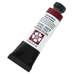 Daniel Smith Extra Fine™ Watercolor 15ml Quinacridone Burnt Scarlet: Red/Pink, Tube, 15 ml, Watercolor, (model 284600087), price per tube