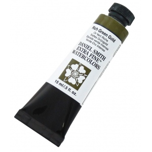 Daniel Smith Extra Fine™ Watercolor 15ml Rich Green Gold: Yellow, Tube, 15 ml, Watercolor, (model 284600099), price per tube
