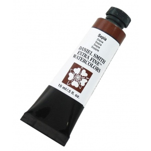 Daniel Smith Extra Fine™ Watercolor 15ml Sepia: Brown, Tube, 15 ml, Watercolor, (model 284600103), price per tube