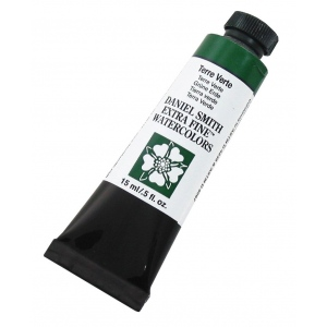 Daniel Smith Extra Fine™ Watercolor 15ml Terre Verte: Green, Tube, 15 ml, Watercolor, (model 284600104), price per tube