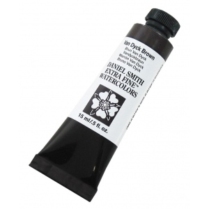 Daniel Smith Extra Fine™ Watercolor 15ml Van Dyck Brown: Brown, Tube, 15 ml, Watercolor, (model 284600110), price per tube