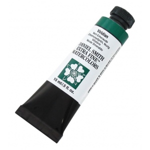 Daniel Smith Extra Fine™ Watercolor 15ml Viridian: Green, Tube, 15 ml, Watercolor, (model 284600112), price per tube