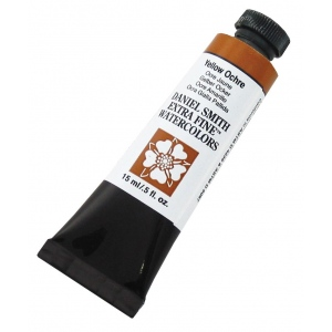 Daniel Smith Extra Fine™ Watercolor 15ml Yellow Ochre: Yellow, Tube, 15 ml, Watercolor, (model 284600114), price per tube