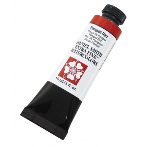 Daniel Smith Extra Fine™ Watercolor 15ml Pompeii Red: Red/Pink, Tube, 15 ml, Watercolor, (model 284600116), price per tube