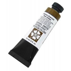 Daniel Smith Extra Fine™ Watercolor 15ml German Greenish Raw Umber: Green, Tube, 15 ml, Watercolor, (model 284600121), price per tube