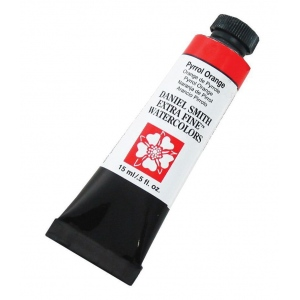 Daniel Smith Extra Fine™ Watercolor 15ml Pyrrol Orange: Orange, Tube, 15 ml, Watercolor, (model 284600126), price per tube