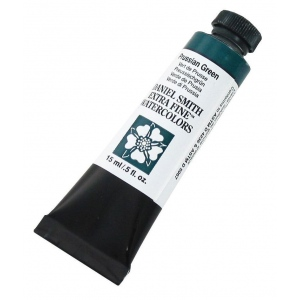 Daniel Smith Extra Fine™ Watercolor 15ml Prussian Green: Green, Tube, 15 ml, Watercolor, (model 284600128), price per tube