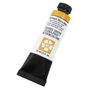 Daniel Smith Extra Fine™ Watercolor 15ml Permanent Yellow Deep: Yellow, Tube, 15 ml, Watercolor, (model 284600133), price per tube