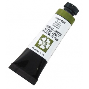 Daniel Smith Extra Fine™ Watercolor 15ml Green Gold: Green, Tube, 15 ml, Watercolor, (model 284600139), price per tube