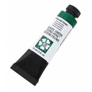 Daniel Smith Extra Fine™ Watercolor 15ml Cascade Green: Green, Tube, 15 ml, Watercolor, (model 284600142), price per tube