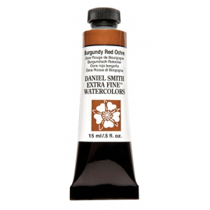 Daniel Smith Extra Fine™ Watercolor 15ml Burgundy Red Ochre: Red/Pink, Tube, 15 ml, Watercolor, (model 284600151), price per tube