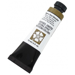 Daniel Smith Extra Fine™ Watercolor 15ml Tiger's Eye Genuine: Yellow, Tube, 15 ml, Watercolor, (model 284600161), price per tube