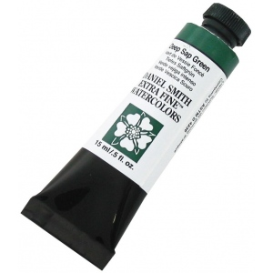 Daniel Smith Extra Fine™ Watercolor 15ml Deep Sap Green: Green, Tube, 15 ml, Watercolor, (model 284600175), price per tube