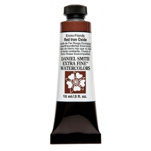 Daniel Smith Extra Fine™ Watercolor 15ml Enviro-Friendly Red Iron Oxide: Red/Pink, Tube, 15 ml, Watercolor, (model 284600177), price per tube