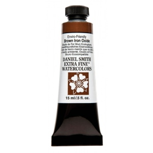 Daniel Smith Extra Fine™ Watercolor 15ml Enviro-Friendy Brown Iron Oxide: Brown, Tube, 15 ml, Watercolor, (model 284600178), price per tube