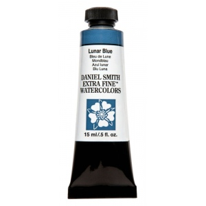 Daniel Smith Extra Fine™ Watercolor 15ml Lunar Blue: Blue, Tube, 15 ml, Watercolor, (model 284600183), price per tube