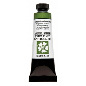 Daniel Smith Extra Fine™ Watercolor 15ml Serpentine Genuine: Green, Tube, 15 ml, Watercolor, (model 284600190), price per tube