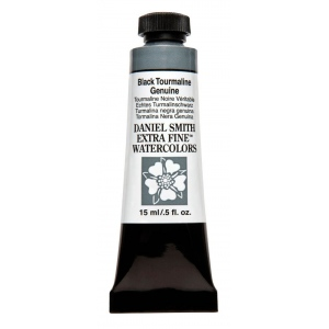 Daniel Smith Extra Fine™ Watercolor 15ml Black Tourmaline Genuine: Black/Gray, Tube, 15 ml, Watercolor, (model 284600207), price per tube