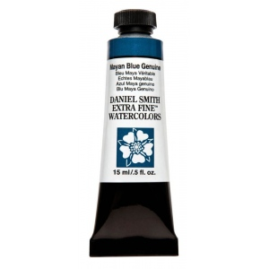 Daniel Smith Extra Fine™ Watercolor 15ml Mayan Blue Genuine: Blue, Tube, 15 ml, Watercolor, (model 284600211), price per tube