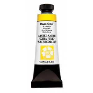 Daniel Smith Extra Fine™ Watercolor 15ml Mayan Yellow: Yellow, Tube, 15 ml, Watercolor, (model 284600212), price per tube
