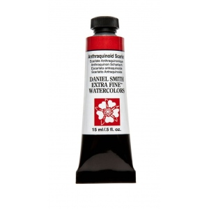 Daniel Smith Extra Fine™ Watercolor 15ml Anthraquinoid Scarlet: Red/Pink, Tube, 15 ml, Watercolor, (model 284600224), price per tube