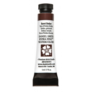 Daniel Smith Extra Fine™ Watercolor 5ml Burnt Umber: Brown, Tube, 5 ml, Watercolor, (model 284610011), price per tube