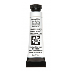 Daniel Smith Extra Fine™ Watercolor 5ml Chinese White: White/Ivory, Tube, 5 ml, Watercolor, (model 284610023), price per tube