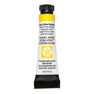 Daniel Smith Extra Fine™ Watercolor 5ml Hansa Yellow Medium: Yellow, Tube, 5 ml, Watercolor, (model 284610039), price per tube