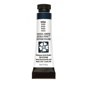 Daniel Smith Extra Fine™ Watercolor 5ml Indigo: Blue, Tube, 5 ml, Watercolor, (model 284610046), price per tube