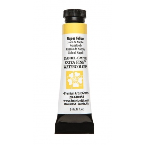 Daniel Smith Extra Fine™ Watercolor 5ml Naples Yellow: Yellow, Tube, 5 ml, Watercolor, (model 284610058), price per tube