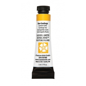 Daniel Smith Extra Fine™ Watercolor 5ml New Gamboge: Yellow, Tube, 5 ml, Watercolor, (model 284610060), price per tube