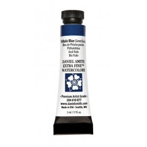 Daniel Smith Extra Fine™ Watercolor 5ml Phthalo Blue GS: Blue, Tube, 5 ml, Watercolor, (model 284610077), price per tube