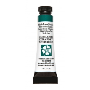 Daniel Smith Extra Fine™ Watercolor 5ml Phthalo Green BS: Green, Tube, 5 ml, Watercolor, (model 284610078), price per tube