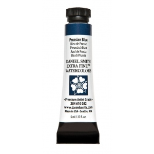 Daniel Smith Extra Fine™ Watercolor 5ml Prussian Blue: Blue, Tube, 5 ml, Watercolor, (model 284610082), price per tube