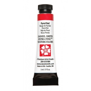Daniel Smith Extra Fine™ Watercolor 5ml Pyrrol Red: Red/Pink, Tube, 5 ml, Watercolor, (model 284610084), price per tube