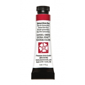 Daniel Smith Extra Fine™ Watercolor 5ml Quinacridone Rose: Red/Pink, Tube, 5 ml, Watercolor, (model 284610092), price per tube