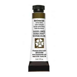 Daniel Smith Extra Fine™ Watercolor 5ml Rich Green Gold: Green, Tube, 5 ml, Watercolor, (model 284610099), price per tube