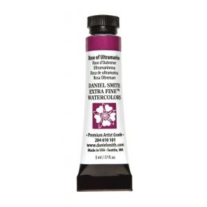 Daniel Smith Extra Fine™ Watercolor 5ml Rose of Ultramarine: Purple, Tube, 5 ml, Watercolor, (model 284610101), price per tube