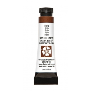 Daniel Smith Extra Fine™ Watercolor 5ml Sepia: Brown, Tube, 5 ml, Watercolor, (model 284610103), price per tube