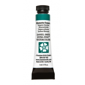 Daniel Smith Extra Fine™ Watercolor 5ml Ultramarine Turquoise: Blue, Tube, 5 ml, Watercolor