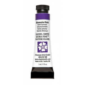 Daniel Smith Extra Fine™ Watercolor 5ml Ultramarine Violet: Purple, Tube, 5 ml, Watercolor, (model 284610108), price per tube