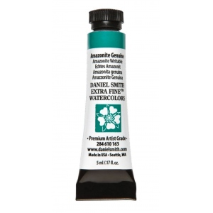 Daniel Smith Extra Fine™ Watercolor 5ml Amazonite Genuine: Green, Tube, 5 ml, Watercolor, (model 284610163), price per tube