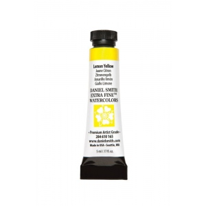 Daniel Smith Extra Fine™ Watercolor 5ml Lemon Yellow: Yellow, Tube, 5 ml, Watercolor