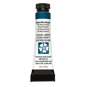 Daniel Smith Extra Fine™ Watercolor 5ml Mayan Blue Genuine: Blue, Tube, 5 ml, Watercolor, (model 284610211), price per tube