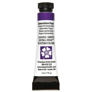 Daniel Smith Extra Fine™ Watercolor 5ml Quinacridone Purple: Purple, Tube, 5 ml, Watercolor, (model 284610225), price per tube
