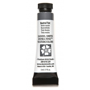 Daniel Smith Extra Fine™ Watercolor 5ml Neutral Tint: Black/Gray, Tube, 5 ml, Watercolor, (model 284610229), price per tube