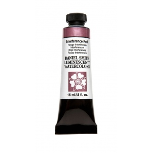 Daniel Smith Extra Fine™ Watercolor 15ml Interference Red: Red/Pink, Tube, 15 ml, Watercolor, (model 284640006), price per tube